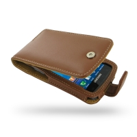 Leather Flip Case for Samsung Captivate Galaxy S SGH-i897 (Brown)