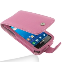 Leather Flip Case for Samsung Captivate Galaxy S SGH-i897 (Petal Pink)
