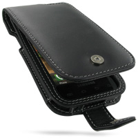 Leather Flip Case for Samsung Fascinate Galaxy S SCH-i500 (Black)