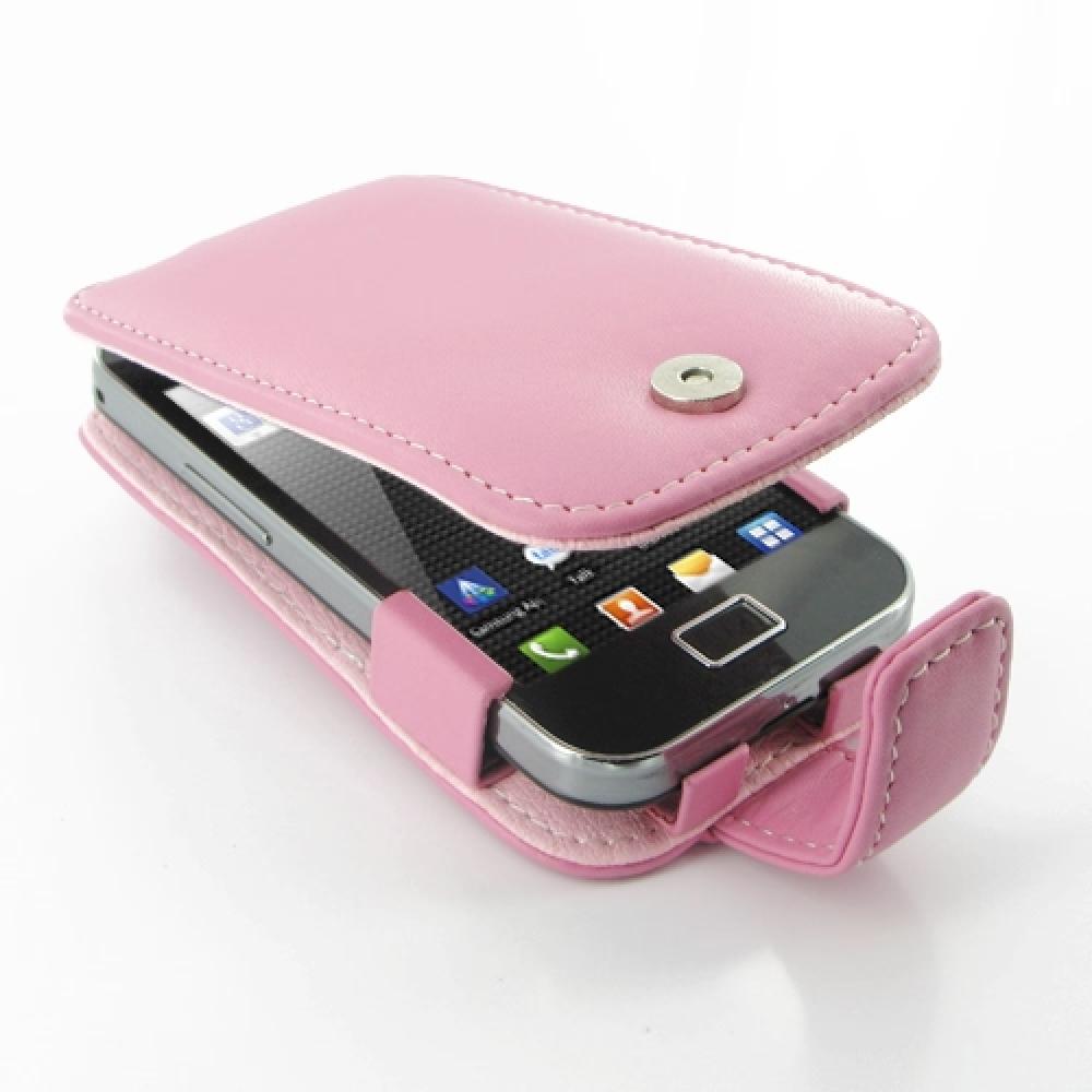 Samsung Galaxy Ace Leather Flip Case Petal Pink PDair