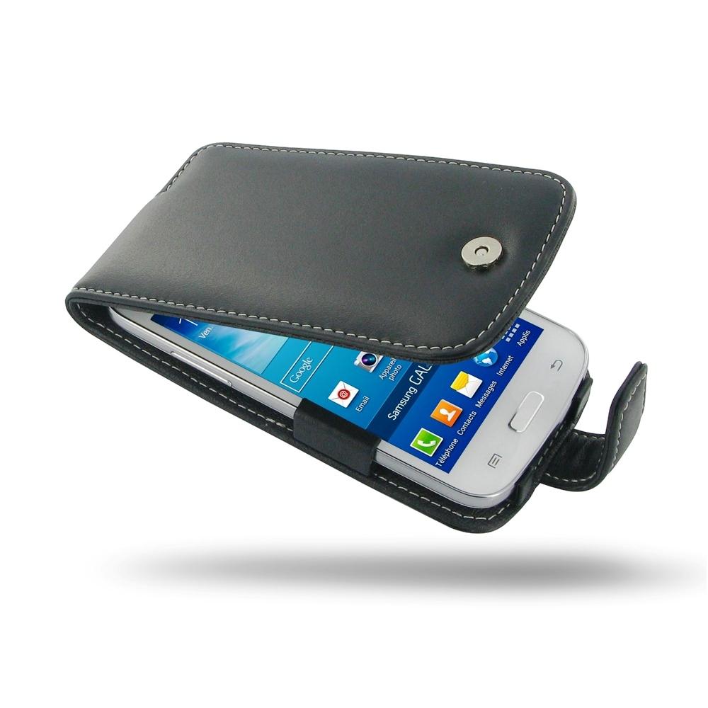 samsung galaxy core plus leather flip case pdair wallet. Black Bedroom Furniture Sets. Home Design Ideas