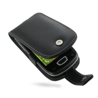 Leather Flip Case for Samsung Galaxy Mini GT-S5570 (Black)