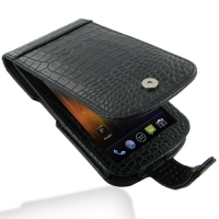 Leather Flip Case for Samsung Galaxy Nexus GT-i9250 SCH-i515 (Black Crocodile Pattern)