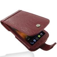 Leather Flip Case for Samsung Galaxy Nexus GT-i9250 SCH-i515 (Red Crocodile Pattern)