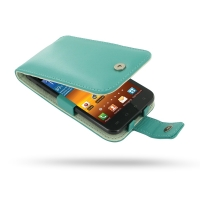 Leather Flip Case for Samsung Galaxy S II Epic 4G Touch SPH-D710 (Aqua)