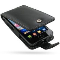 Leather Flip Case for Samsung Galaxy S II GT-i9100