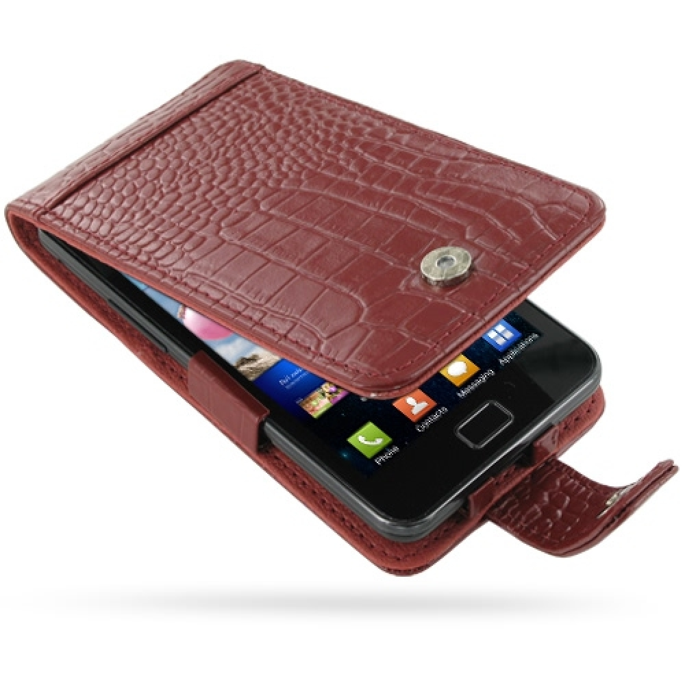 10% OFF + FREE SHIPPING, Buy PDair Top Quality Handmade Protective Samsung Galaxy S2 Leather Flip Case (Red Croc Pattern) online. Pouch Sleeve Holster Wallet You also can go to the customizer to create your own stylish leather case if looking for addition