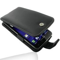 Leather Flip Case for Samsung Galaxy S II LTE SGH-i727R (Black)