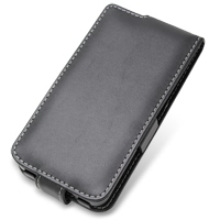 Samsung Galaxy S2 WiMAX Leather Flip Case (Black) PDair Premium Hadmade Genuine Leather Protective Case Sleeve Wallet