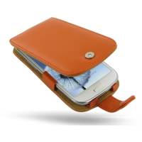 Leather Flip Case for Samsung Galaxy S III S3 GT-i9300 (Orange)