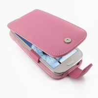 Leather Flip Case for Samsung Galaxy S III S3 GT-i9300 (Petal Pink)