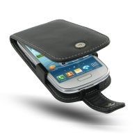 Samsung Galaxy S3 Mini Leather Flip Case PDair Premium Hadmade Genuine Leather Protective Case Sleeve Wallet