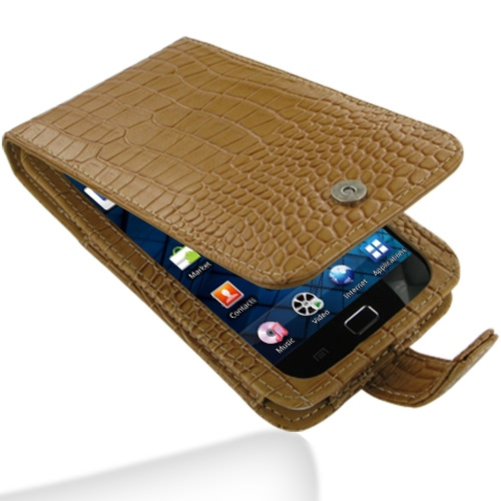 10% OFF + FREE SHIPPING, Buy Best PDair Quality Handmade Protective Samsung Galaxy S WiFi 50 Leather Flip Case (Brown Croc Pattern) You also can go to the customizer to create your own stylish leather case if looking for additional colors, patterns and ty