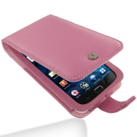 Samsung Galaxy S WiFi 5.0 Leather Flip Case (Petal Pink) PDair Premium Hadmade Genuine Leather Protective Case Sleeve Wallet