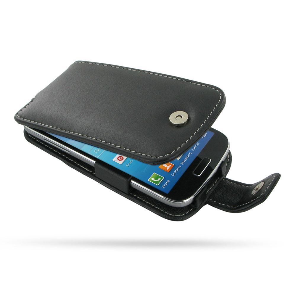 samsung galaxy s4 mini leather flip case pdair premium hadmade genuine
