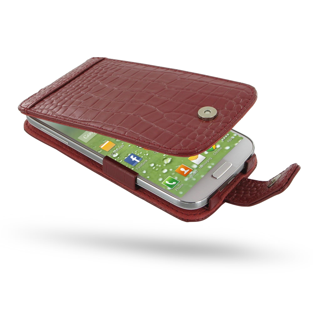 10% OFF + FREE SHIPPING, Buy PDair Top Quality Handmade Protective Samsung Galaxy S4 Leather Flip Case (Red Croc Pattern) online. Pouch Sleeve Holster Wallet You also can go to the customizer to create your own stylish leather case if looking for addition
