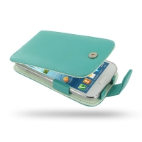 Leather Flip Case for Samsung Galaxy Win Duos GT-i8550 GT-i8552 (Aqua)