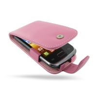 Leather Flip Case for Samsung Galaxy Y Duos GT-S6102 (Petal Pink)