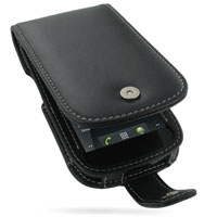 Leather Flip Case for Samsung Google Nexus S GT-i9020T i9023 (Black)