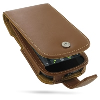 Leather Flip Case for Samsung Google Nexus S GT-i9020T i9023 (Brown)