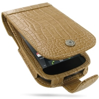 Leather Flip Case for Samsung Google Nexus S GT-i9020T i9023 (Brown Crocodile Pattern)
