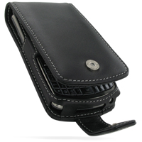 Leather Flip Case for Samsung Jack SGH-i637 (Black)