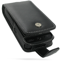 Leather Flip Case for Samsung Pixon M8800/M8800H (Black)