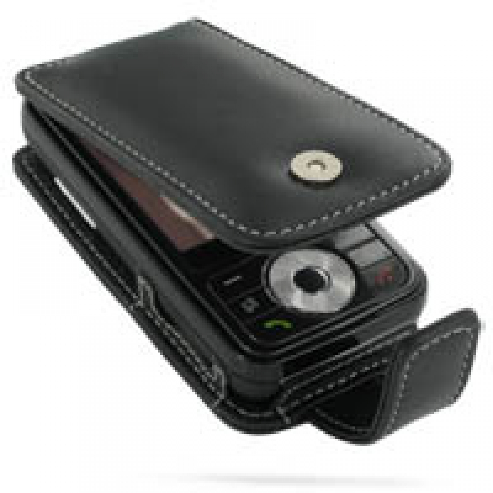 Samsung SGH-i458 Leather Flip Case (Black) PDair Premium Hadmade Genuine Leather Protective Case Sleeve Wallet