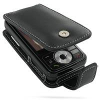 Leather Flip Case for Samsung SGH-i458 (Black)