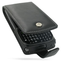 Leather Flip Case for Samsung SGH-i780 (Black)