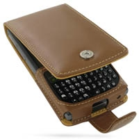 Leather Flip Case for Samsung SGH-i780 (Brown)