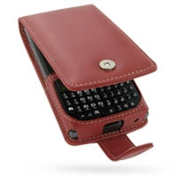 Leather Flip Case for Samsung SGH-i780 (Red)