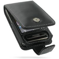 Leather Flip Case for Samsung TOUCHWiZ F488 F480 (Black)