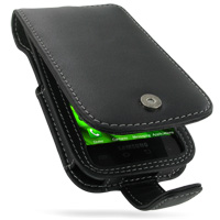 Leather Flip Case for Samsung Vibrant Galaxy S SGH-T959 (Black)