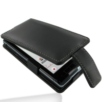 Leather Flip Case for Sharp AQUOS PHONE f SH-13C (Black)