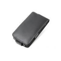 Leather Flip Case for Sharp SoftBank 107SH (Black)