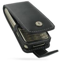 Leather Flip Case for Sony Ericsson G502 G502i (Black)