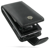 Sony Ericsson G705 Leather Flip Case (Black) PDair Premium Hadmade Genuine Leather Protective Case Sleeve Wallet