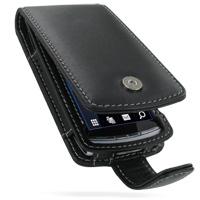 Leather Flip Case for Sony Ericsson Vivaz U5i (Black)