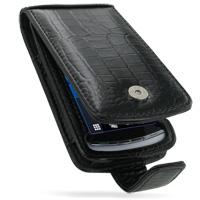Leather Flip Case for Sony Ericsson Vivaz U5i (Black Crocodile Pattern)