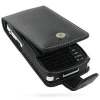 Leather Flip Case for Sony Ericsson W960 (Black)