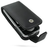 Leather Flip Case for Sony Ericsson Yari U100 (Black)