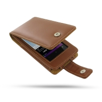 Sony Walkman NWZ-F805 F806 F804 Leather Flip Case (Brown) PDair Premium Hadmade Genuine Leather Protective Case Sleeve Wallet