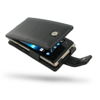 Sony Xperia E Dual Leather Flip Case PDair Premium Hadmade Genuine Leather Protective Case Sleeve Wallet