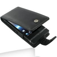 Sony Xperia P Leather Flip Case PDair Premium Hadmade Genuine Leather Protective Case Sleeve Wallet
