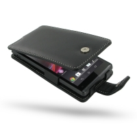 Sony Xperia SP Leather Flip Case PDair Premium Hadmade Genuine Leather Protective Case Sleeve Wallet