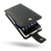 Sony Xperia TX Leather Flip Case (Black) PDair Premium Hadmade Genuine Leather Protective Case Sleeve Wallet