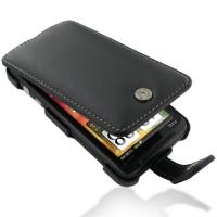 Leather Flip Case for Sprint HTC EVO 3D PG86100 (Black)