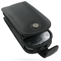 Leather Flip Case for Sprint HTC Hero (Black)