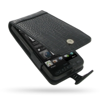 10% OFF + FREE SHIPPING, Buy PDair Top Quality Handmade Protective T-Mobile HTC HD2 Leather Flip Case (Black Croc Pattern) online. Pouch Sleeve Holster Wallet You also can go to the customizer to create your own stylish leather case if looking for additio